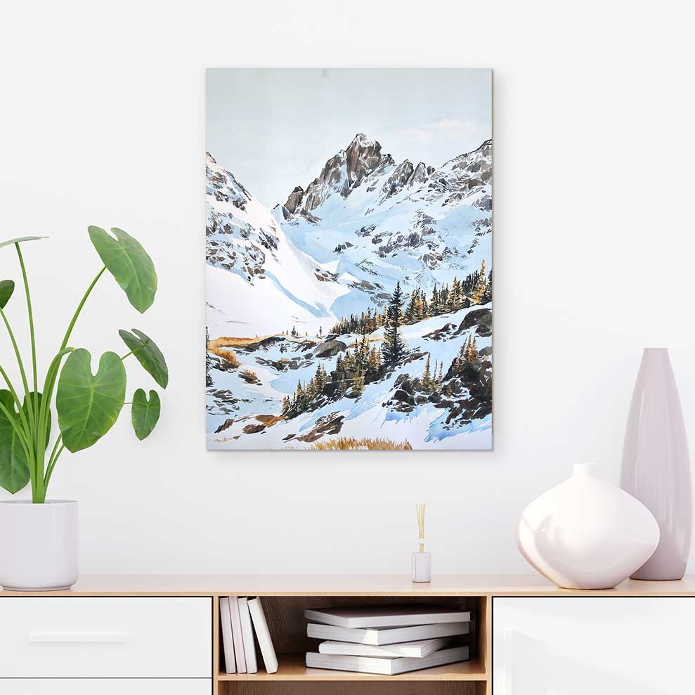 Robert's Peak Lake - Canvas Print by Emma Kelly | Art Bloom Canvas Art