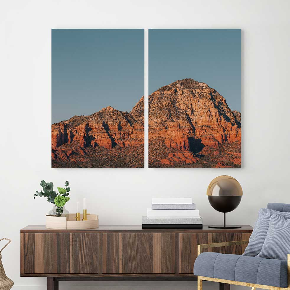 Sedona Blues - 2-Piece Canvas Print by Nate Taylor | Art Bloom Canvas Art