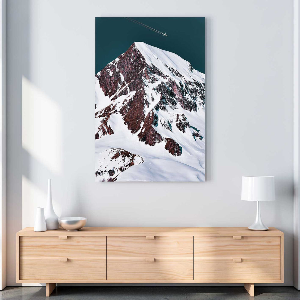 Snowy Summit Canvas Art by Eberhard Grossgasteiger | Art Bloom