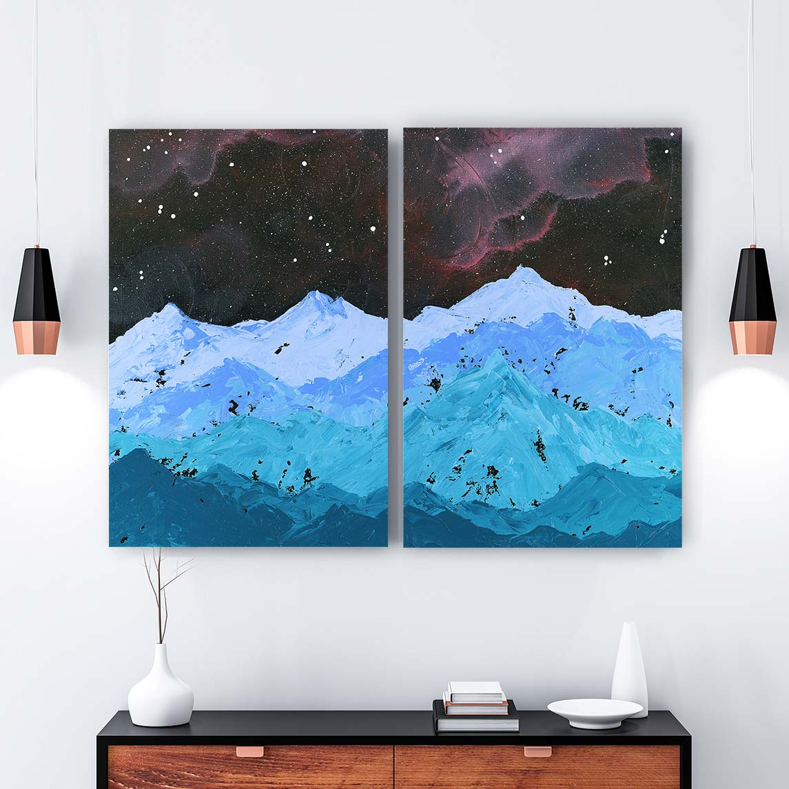 Space Mountains Canvas Art by Emily Magone | Art Bloom