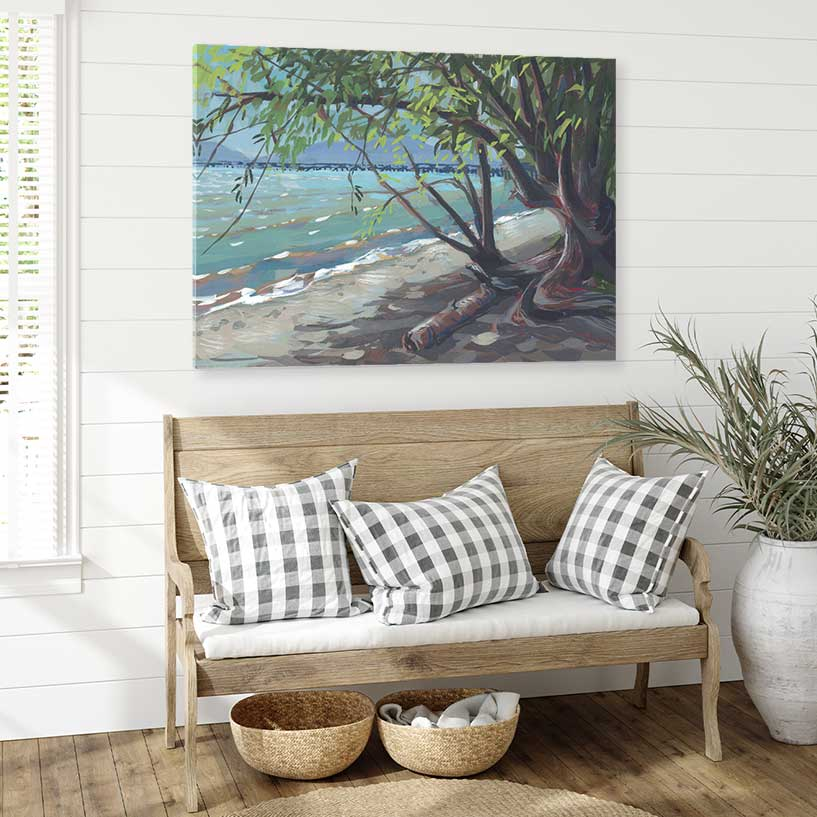 Squalicum Beach - Canvas Print by Khara Ledonne | Art Bloom Canvas Art