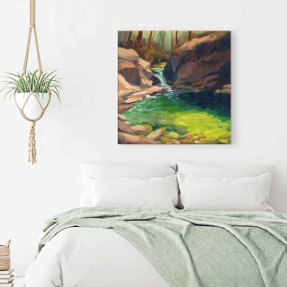 Swimming Hole - Canvas Print by Khara Ledonne | Art Bloom Canvas Art