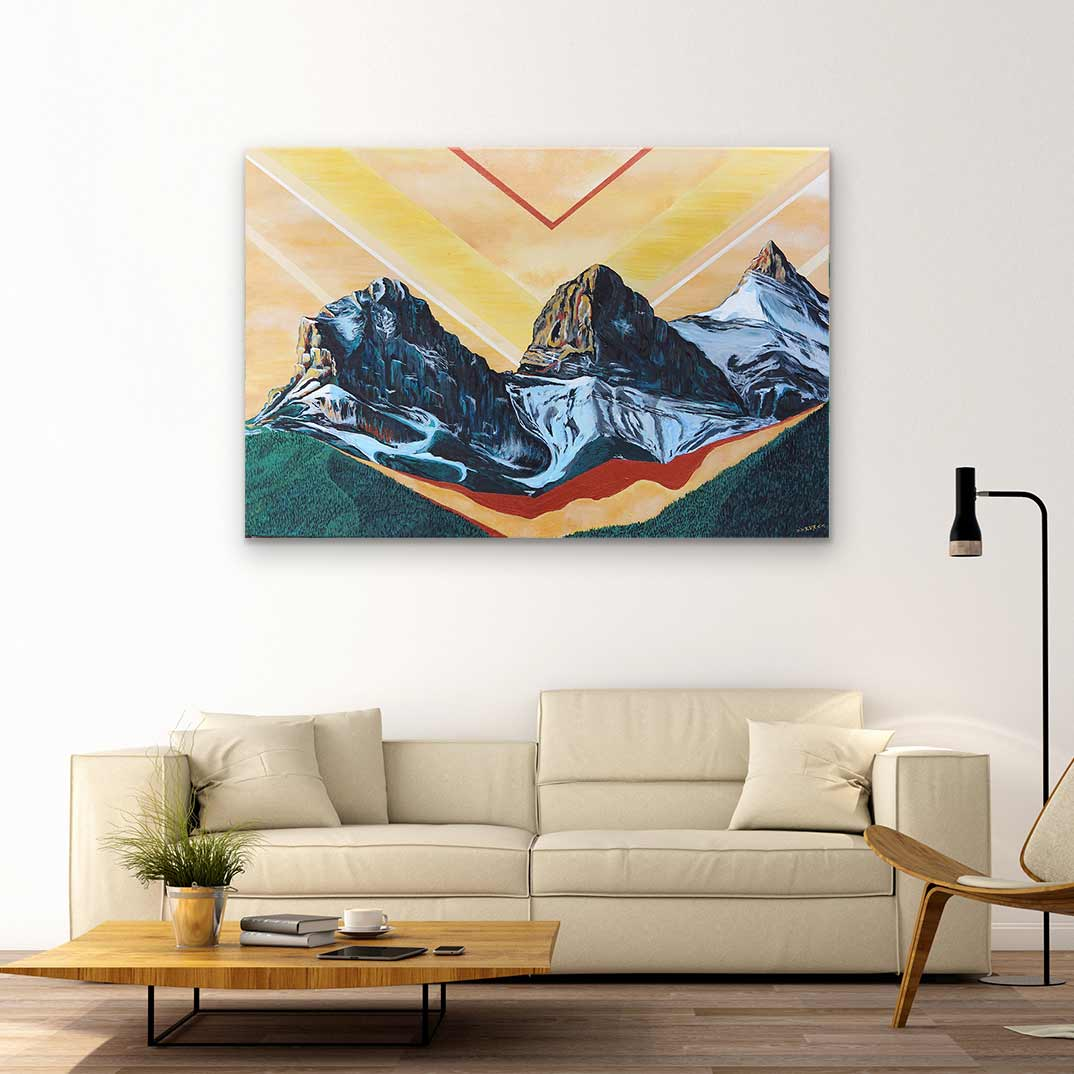 Three Sisters - Canvas Print by Kelsey Van Raay | Art Bloom Canvas Art