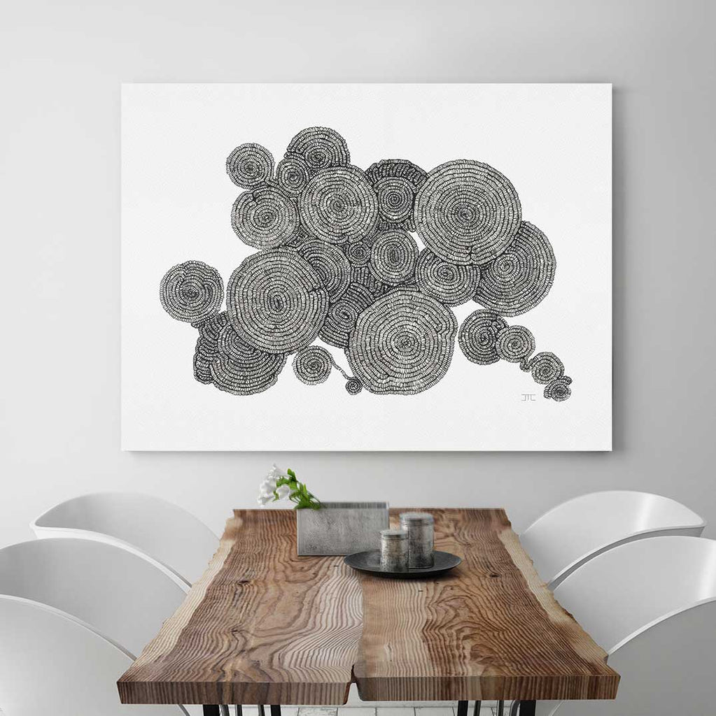 Tree Rings Canvas Art by Jacque Coyne | Art Bloom
