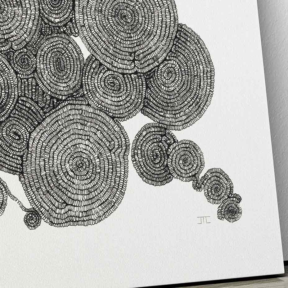 Tree Rings Abstract Canvas Wall Art By Jacque Coyne Art Bloom