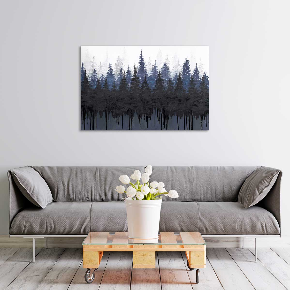 Tree Shadows Canvas Art by Jolene Schilling | Art Bloom