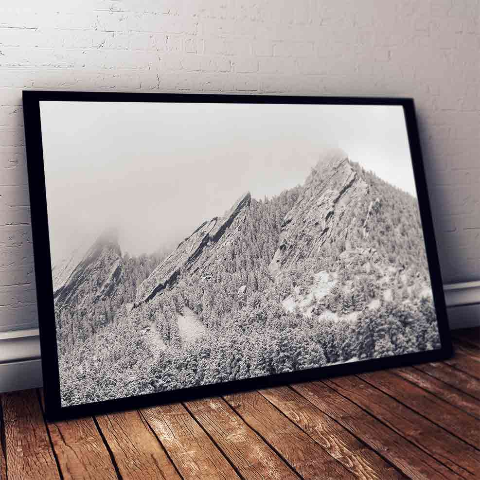 "Art Bloom Winter in Boulder Canvas Print- By Andrew Boeckman-S (16""x24"")-"