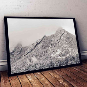 Winter in Boulder Canvas Art by Andrew Boeckman | Art Bloom