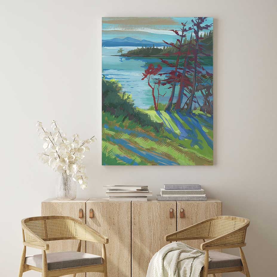 Woodstock Harbor - Canvas Print by Khara Ledonne | Art Bloom Canvas Art