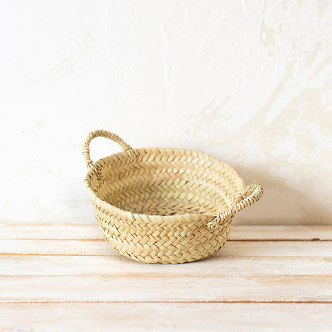 Small Palm Bread Basket