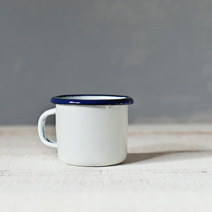 Mini White Enamelware Mug