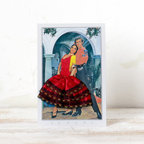 Flamenco Dancer Postcard - Red