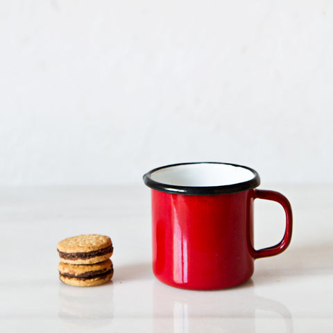 Mini Red Enamelware Mug