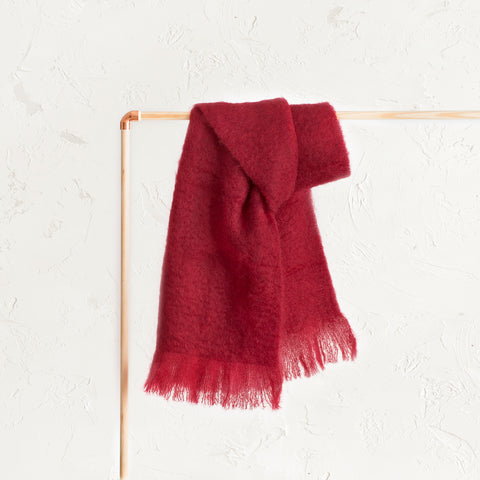 Mohair Red Scarf