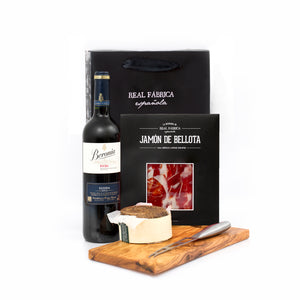 Wine, Iberic Ham and Cheese Pack
