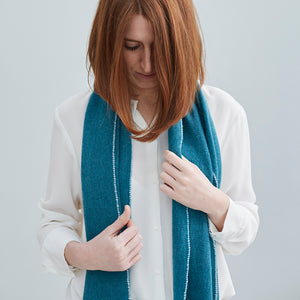 100% Cashmere Turquoise Scarf