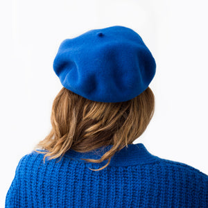 Elósegui Deep Blue Wool Beret
