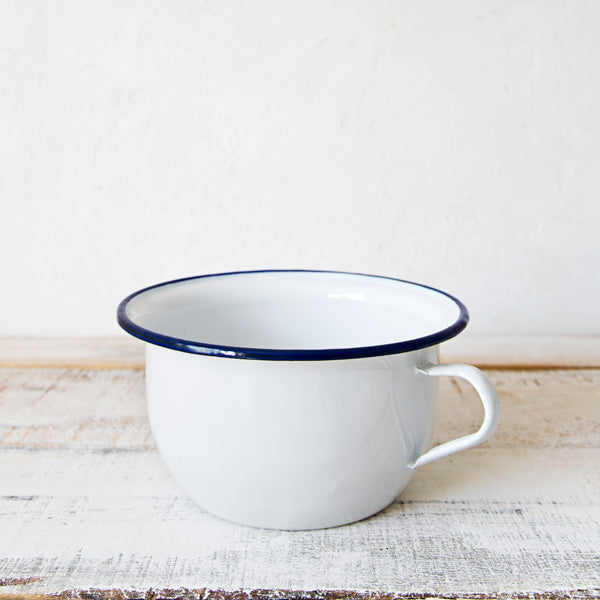 White Enamelware Potty