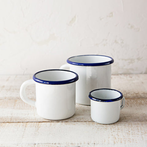 Enamelware Mugs Set of 3