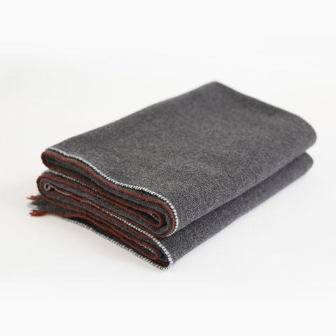 100% Dark Gray Cashmere Blanket