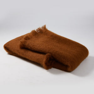 Mohair Brown Blanket
