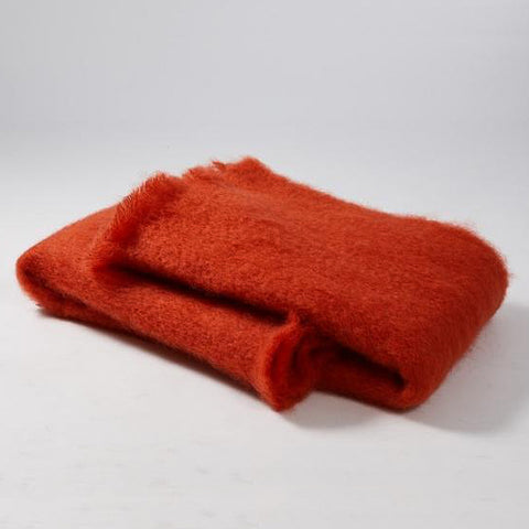 Mohair Orange Blanket