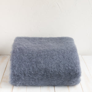 Mohair Blue and Gray Blanket