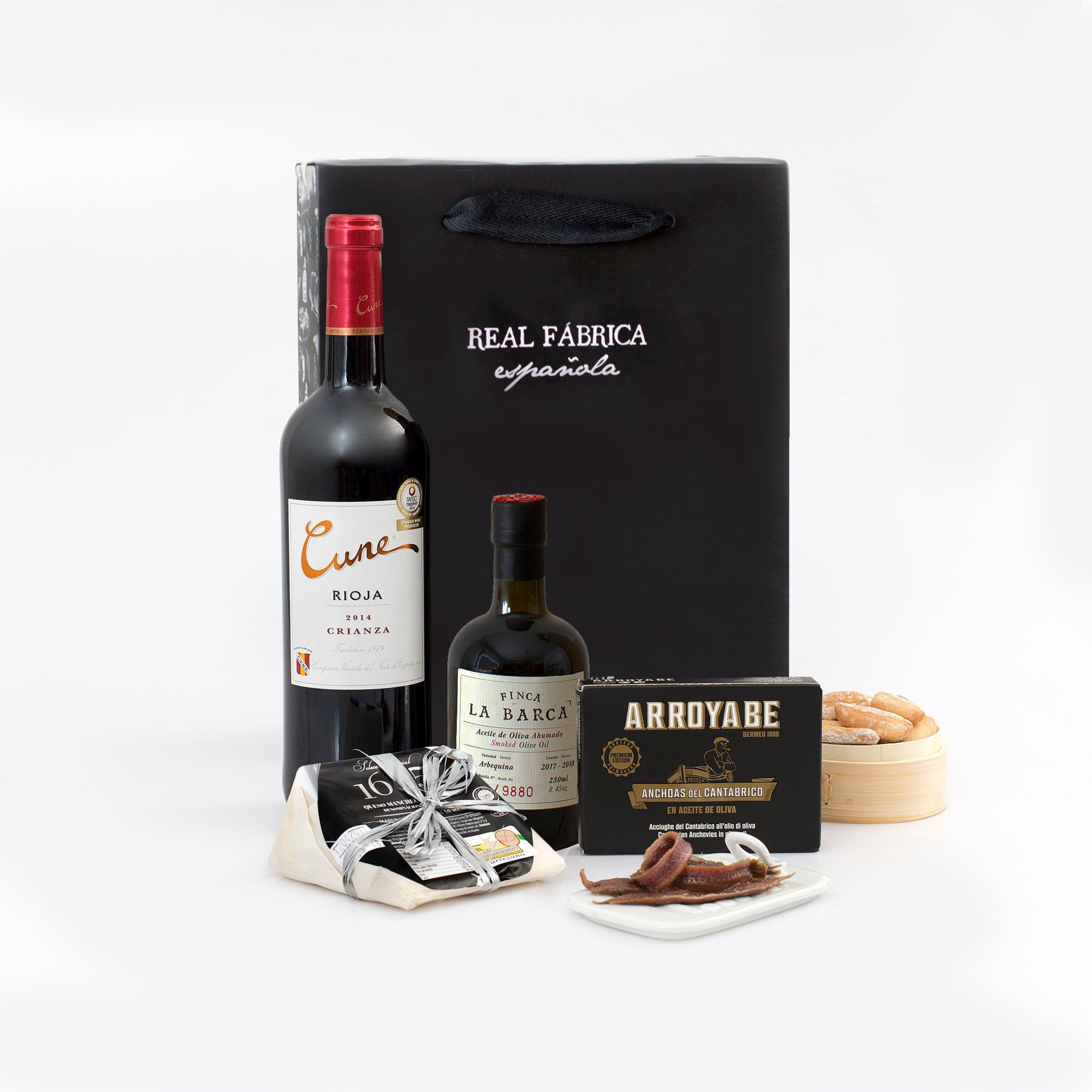 Pack Aceite, Queso, Anchoas y Vino