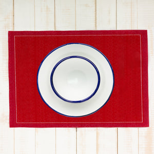 Red Table Mats