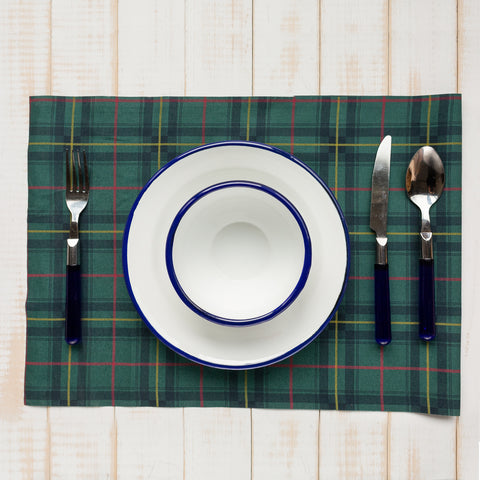 Green Tartan Table Mats