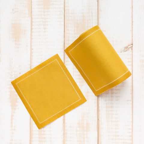 Yellow Curry Napkins - Small