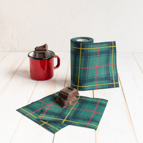 Green Tartan Napkins - Small