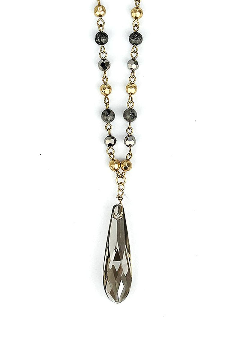 Fashion Modern Chic Crystal Drop Necklace