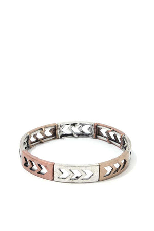 Rustic Cut Out Arrow Stretch Bracelet