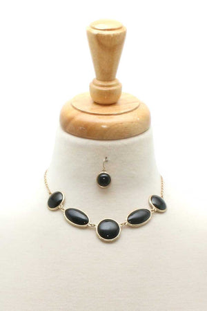 Chic Modern Necklace And Earring Set