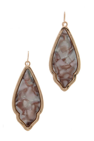 Acetate Moroccan Shape Drop Earring