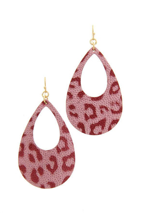 Animal Print Teardrop Shape Earring