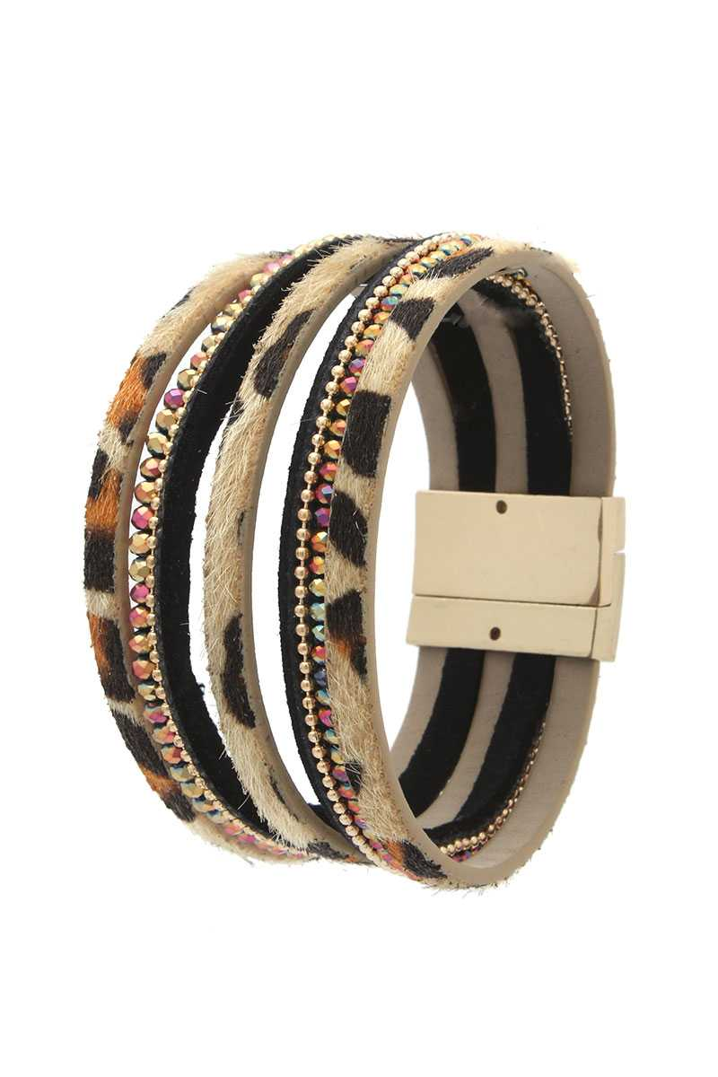 Beaded Multi Strand Magnetic Bracelet