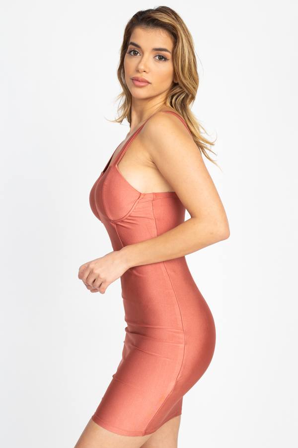 Satin Bustier Mini Dress