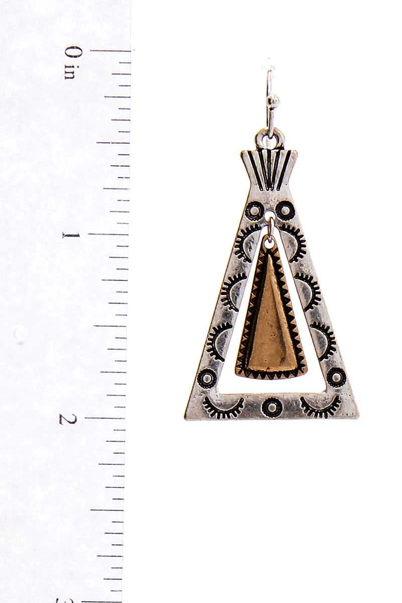 Modern Chic Tipi Inspired Triangle Drop Earring