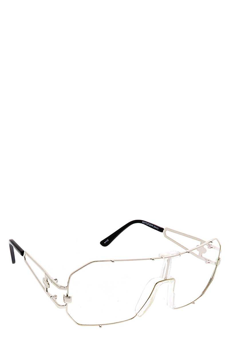 Clear Styled Metal Frame Sunglasses