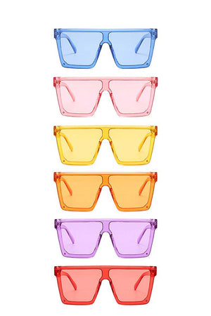 Modern Retro Summer Cool Vibes Colored Sunglasses