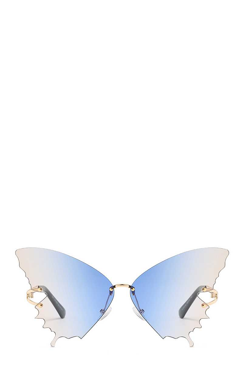 Chic Cool Colored Butterfly Design Sunglasses