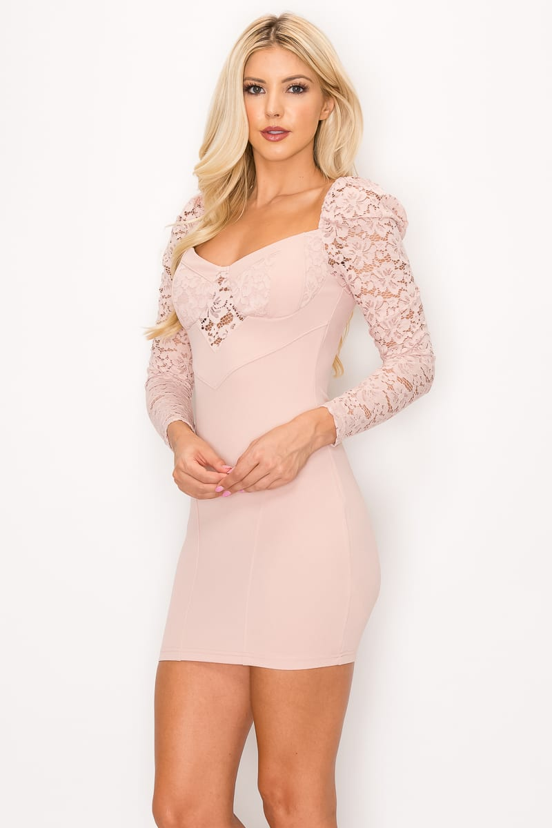 Lace Lover Cutout Long Sleeve Dress