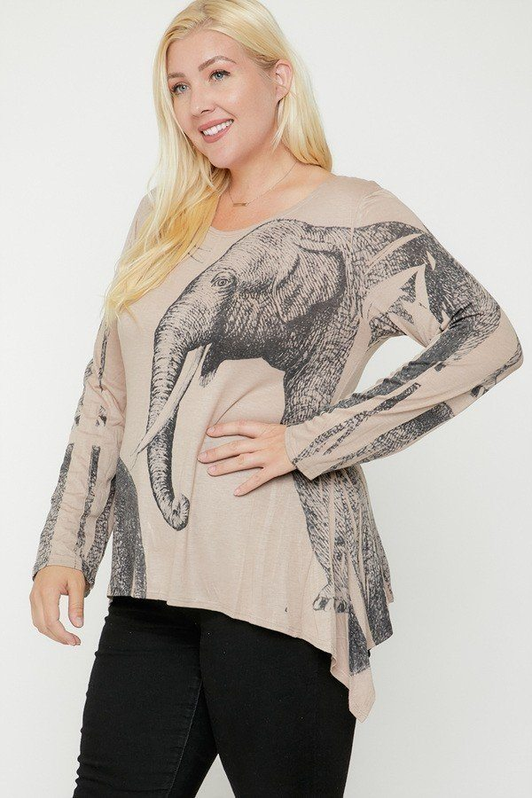 Elephant Sublimation Print Top