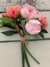 11. Real touch pink & orange peony - Baycreek & Co