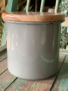 Enamel Canister (Grey) - Baycreek & Co