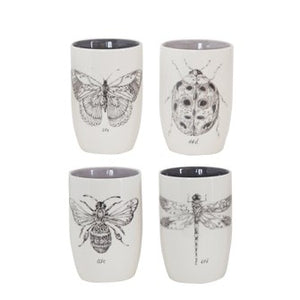 Stoneware Tumbler w/ Insect, 4 Styles - Baycreek & Co