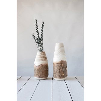Wood Vase w/ Live Edge (medium) - Baycreek & Co