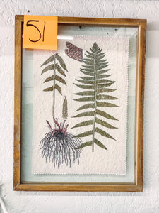 51. Wood frame botanical - Baycreek & Co
